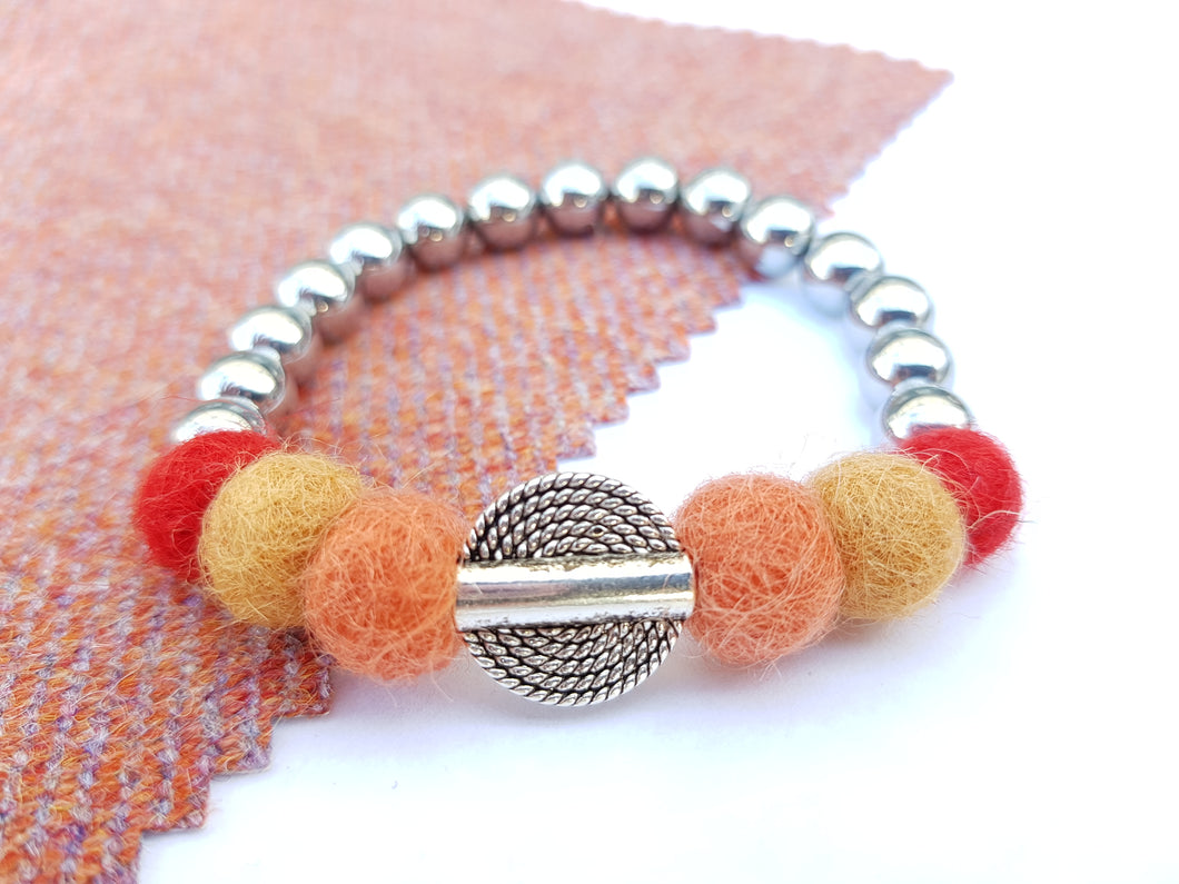Mariko Stretch Bracelet - Rust