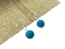 Dot Earrings - Teal