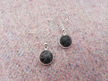 Dot Earrings - Dark Grey Marl