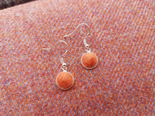 Dot Earrings - Burnt Orange