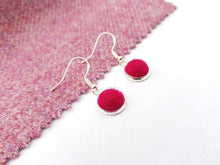Dot Earrings - Azalea Pink