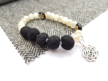 Black Daisy bracelet - Black