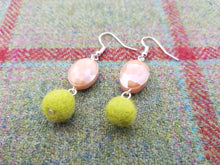 Summer Blush Earrings - Yellow Green