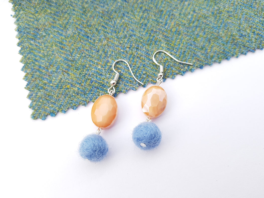 Summer Blush Earrings - French Blue