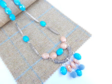 "Summer Blush 22"" drop necklace - Blue"