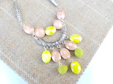 "Summer Blush 22"" drop necklace - Yellow Green"