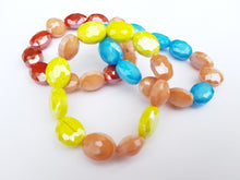 Summer Blush Stretch Bracelet - Turquoise blue