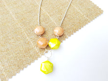 "Summer Pop 20"" drop necklace - Yellow"