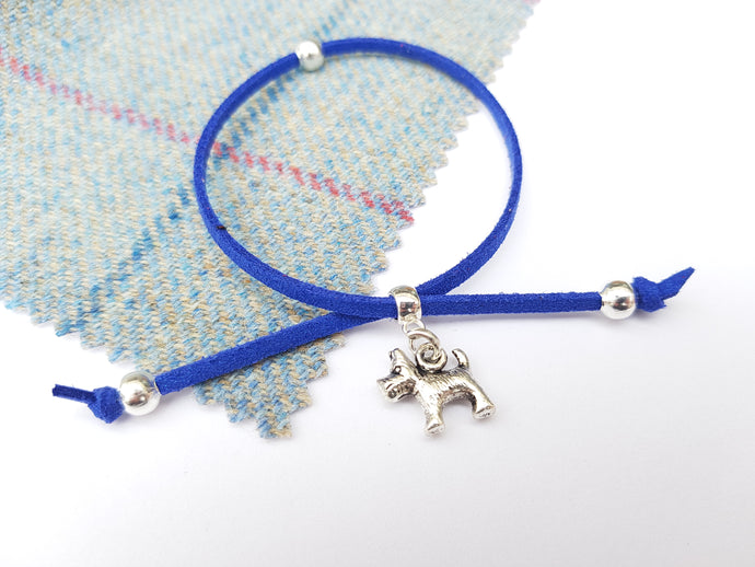 Scottish friendship Scottie Dog bracelet - Royal Blue