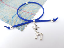 Scottish friendship Stag bracelet - Royal Blue