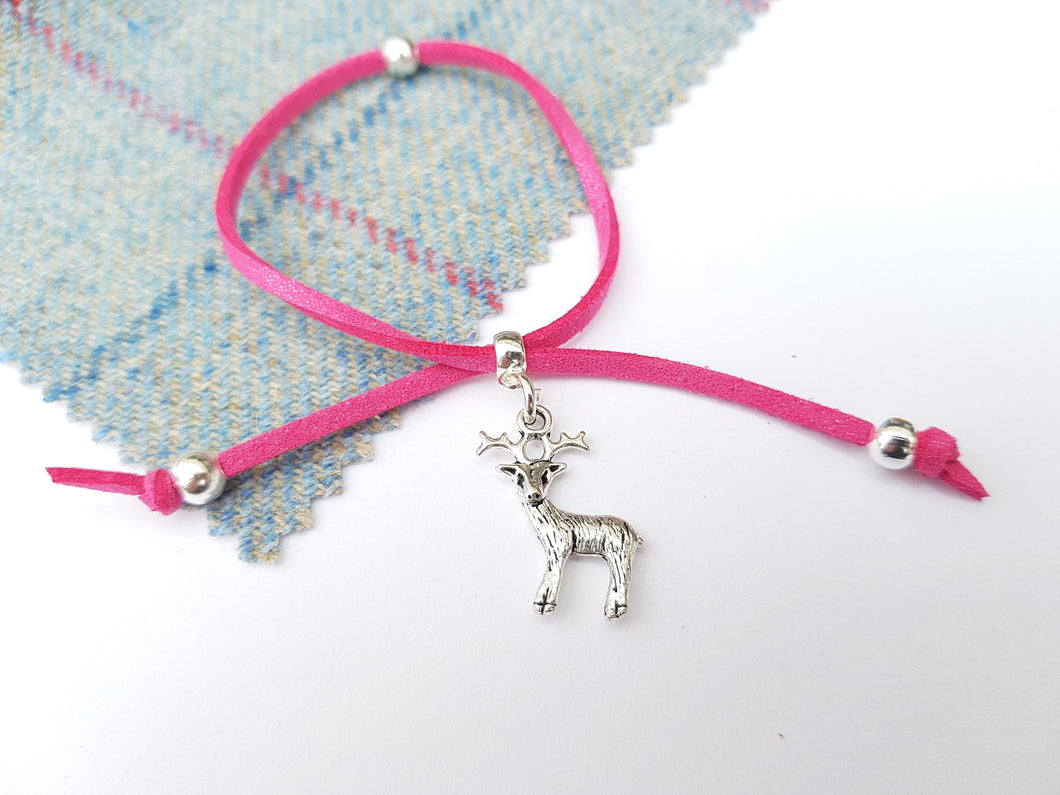 Scottish friendship Stag bracelet - Rose Pink