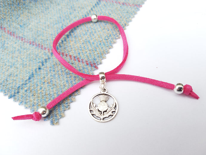 Scottish friendship Thistle bracelet - Rose Pink