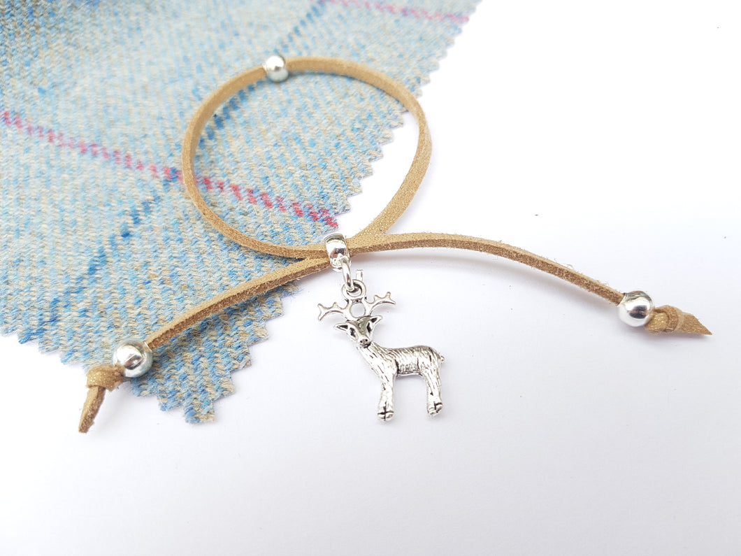 Scottish friendship Stag bracelet - Tan