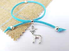 Scottish friendship Stag bracelet - Turquoise