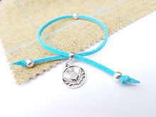 Scottish friendship Thistle bracelet - Turquoise