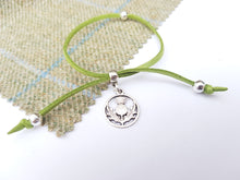 Scottish friendship Thistle bracelet - Green