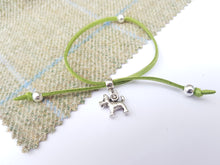 Scottish friendship Scottie Dog bracelet - Green