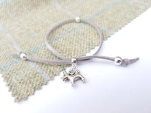 Scottish friendship Scottie Dog bracelet - Grey / Silver