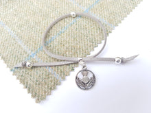 Scottish friendship Thistle bracelet - Grey / Silver