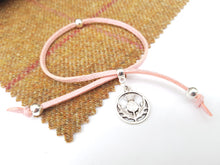 Scottish friendship Thistle bracelet - Baby Pink