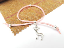 Scottish friendship Stag bracelet - Baby Pink