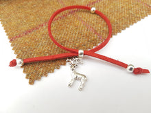 Scottish friendship Stag bracelet - Red