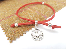 Scottish friendship Thistle bracelet - Red