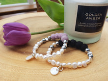 Fresh water Pearl & Mother of pearl Bracelet - Thistle Lilac