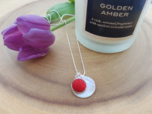 Mother of Pearl Dot Necklace - Red