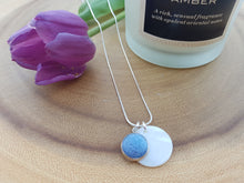 Mother of Pearl Dot Necklace - French Blue