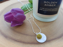 Mother of Pearl Dot Necklace - Olive