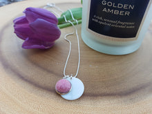 Mother of Pearl Dot Necklace - Coral Pink