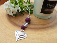 Heart Drop pendant - Plum
