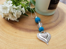 Heart Drop pendant - Kingfisher