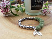 Sleek puff heart Bracelet - Sage Green