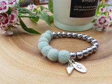 Sleek puff heart Bracelet - Aqua