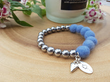 Sleek puff heart Bracelet - French Blue