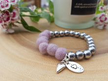 Sleek puff heart Bracelet - Thistle