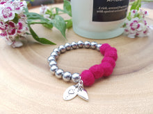 Sleek puff heart Bracelet - Azeala Pink