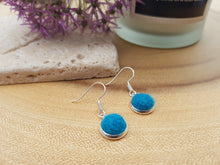 Dot Earrings - Kingfisher blue