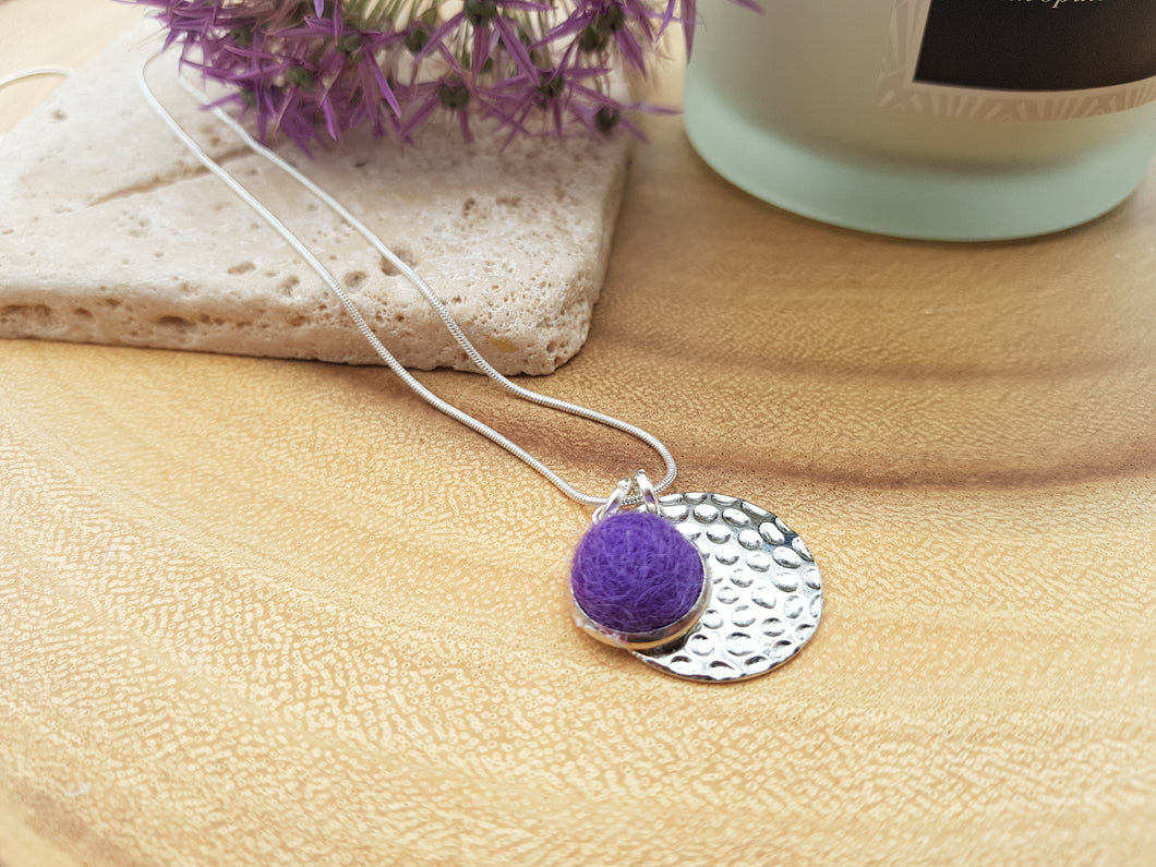 Hammer Dot Necklace - Purple