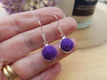 Dot Earrings - Purple