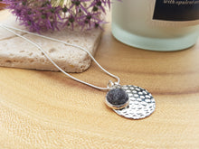 Hammer Dot Necklace - Dark Grey Marl