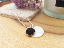 Mother of Pearl Dot Necklace - Black