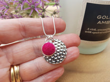 Hammer Dot Necklace - Azalea Pink