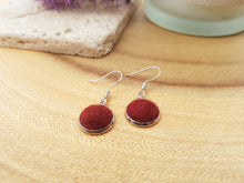 Dot Earrings - Burgundy