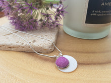Mother of Pearl Dot Necklace - Violet