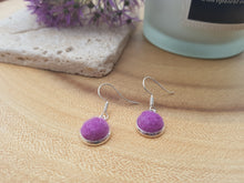 Dot Earrings - Violet