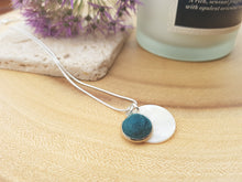 Mother of Pearl Dot Necklace - Teal