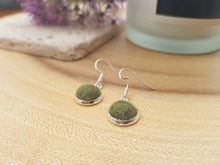Dot Earrings - Dark Olive
